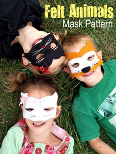 Felt Animals Mask Pattern from The Odd Girl