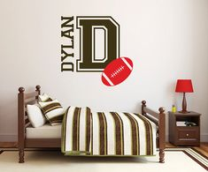 Hey, I found this really awesome Etsy listing at https://www.etsy.com/listing/127709579/wall-decal-football-name-decal-boy-db242