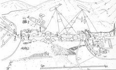 Oma/Rem Koolhaas Oma/Rem Koolhaas early sketches – Compétition pour l'aménagement de la plaine Sacrée de Saint Gerasimos, 1984
