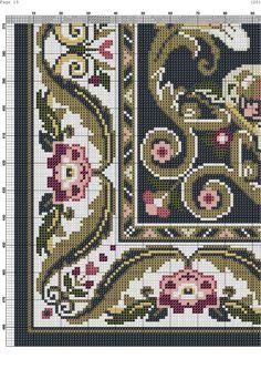 carpets and rugs,cross stitch Cross Stitch Art, Cross Stitch Designs, Cross Stitching, Cross Stitch Embroidery, Embroidery Patterns, Cross Stitch Patterns, Art Nouveau Pattern, Cross Stitch Freebies, Cross Stitch Pictures