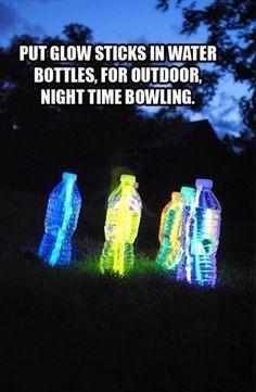 ..botellas con luz neon