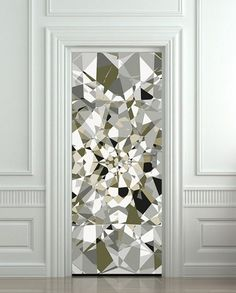 "Door Wall STICKER poster diamond shimmer shine bling rhinestone cover film 30x79"" (77x200 cm)"