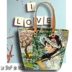 French Needlepoint Purse, Canvas Handbag leshopdemoz.com