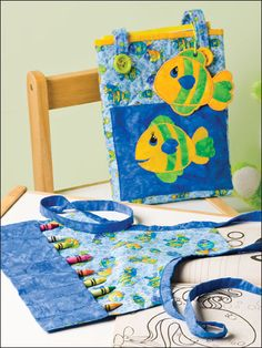 Color My World free sewing pattern apron storage bag