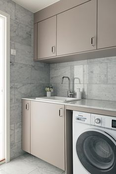 House Design, Home, Washing Machine In Kitchen, House Rooms, Laundry Room Design, House Interior, Bathroom Interior, Apartment Inspiration, Beautiful Bathrooms