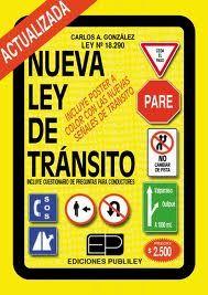 Ley de tránsito por vías por vías públicas terrestes y seguridad vial