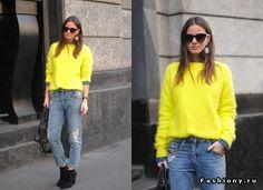 Купить желтый свитер