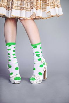An Easy Way to Wear Green: Socks