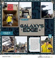 Disney Star Wars Galaxy's Edge digital scrapbook layout using Project Mouse (Galaxy): by Sahlin Studio