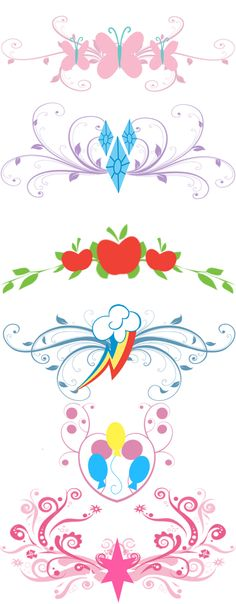 MLP - Tramp Stamp Templates by Zoe Productions