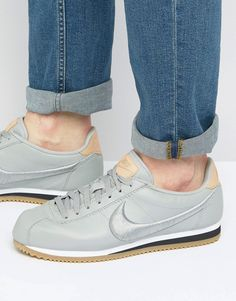 Get this Nike's sneakers now! Click for more details. Worldwide shipping. Nike Cortez Leather Premium Trainers In Grey 861677-003 - Grey: Trainers by Nike, Matte leather upper, Lace-up fastening, Branded tongue and heel, Padded for comfort, Embroidered logo, Herringbone tread, Treat with a leather protector, 100% Real Leather Upper, Supplier code: 861677-003. Back in 1971 Blue Ribbons Sports introduced the concept of the Greek Goddess of Victory - Nike. Founded a year later in 1972, Nike…