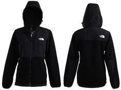 New Womens The North Face Denali Fleece Hoodie TNF Black