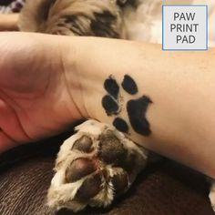 Cat Paw Tattoos, Cat Tattoo, Animal Tattoos, Cat Paw Print Tattoo, Tatoos, Cat And Dog Tattoo, Leopard Tattoos, Tatoo Dog, Dog Pawprint Tattoo