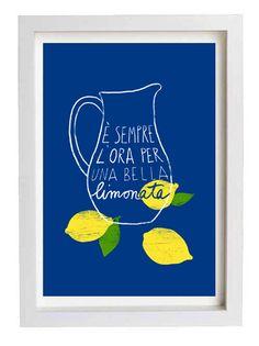 Italienische Küche Kunstdruck Limonade 11 x 15 Italien von anek