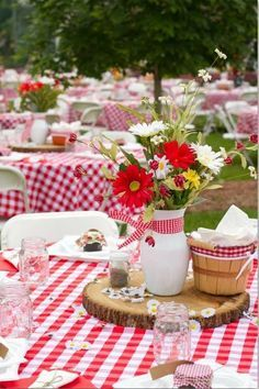 Image result for tablecloths and galvanized serving pieces