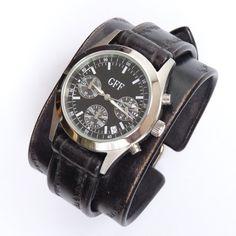 Unisex leather  watc bracelet watch Steampunk by loversbracelets