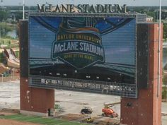 IT'S ALIVE!!! // #Baylor's McLane Stadium videoboard is on for the first time. #SicEm