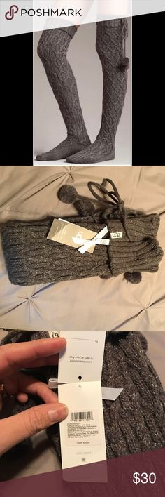 NEW with tag UGG socks!! New with tag ugg socks in dark gray color, I bought them and never worn them. UGG Accessories