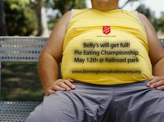 Belly's will get full May 12th-Pie Eating Championship kicking off National Salvation Army Week