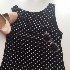 Black and white polka dot tank top A simple black and white polka dot tank top, looks really cute with colored jeans! Good condition, somewhat loosely fitting. Forever 21 Tops Tank Tops