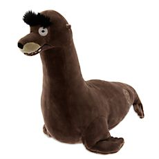 Disney Finding Dory Gerald Plush, Gerald's impressive eyebrows are a striking feature of the sea lion who makes his screen debut in Disney Finding Dory Gerald, Disney Finding Dory, Finding Nemo, Disney Plush, Disney Toys, Disney Pixar, Disney Stuff, Disney And More, Disney Merchandise