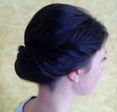 etherial loose low inverted bun