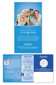 Vertical full color, family 6x11 dental marketing postcard #family #dental #dentalmarketing #dentist #printdesign #wellness #health