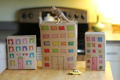 Cereal Box Cityscape: Video - http://www.pbs.org/parents/crafts-for-kids/cereal-box-cityscape-video/