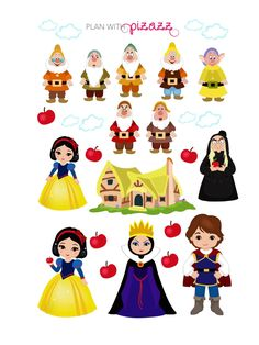 Disney SNOW WHITE Inspired Themed Sticker Sheet by PlanwithPizazz