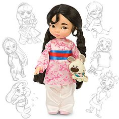 Little Mulan doll - So, so cute! I love to see that this series isn't just the white Princesses. The dolls of Pocahantas, Mulan, and Jasmine are the best in the series! What great dolls to add to your child's collection! (Tiana is quite cute, too, but I think her mouth is painted oddly.)