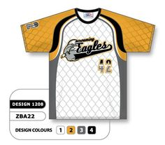 custom sublimated crew neck baseball jersey design 1208