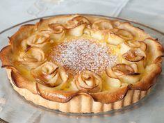 מתכון טארט שושני תפוחים בדבש, טארט מבצק שקדים פריך עם שושני תפוחים בדבש ורויאל וניל - באדיבות צמרת טייטלר