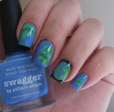 The Clockwise Nail Polish: Earth Day 2015 Nail Art & Picture Polish Swagger