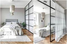 Зона спальни в совмещенной комнате