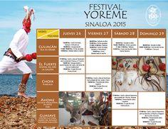 Programación general del Festival Yoreme Sinaloa 2015. Del 26 al 29 de noviembre de 2015. #Ahome | #ElFuerte | #Choix | #Guasave | #Culiacán
