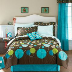 jcp home™ Camryn Complete Bedding Set with Sheets Collection - JCPenney Bedroom Sets, Dream Bedroom, Girls Bedroom, Bedrooms, Girl Rooms, Sports Bedding, Teen Bedding, Vinyl Wall Decals, Comforter Sets