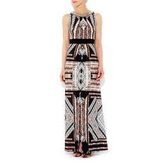 Wallis Stone print embellished maxi dress