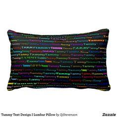 Tammy Text Design I Lumbar Pillow