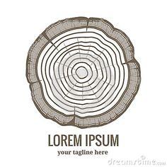Annual tree growth rings logo icon