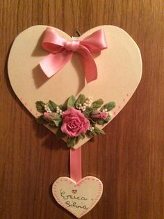 Festa della mamma Hey Love, Happy Valentines Day, Diy And Crafts, Place Card Holders, Flowers, Biscotti, Cards, Bella, Dreams