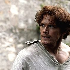 "Angry Jamie. (""Castle Leoch"" - 1x02) Sam Heughan is an incredible actor. He really becomes Jamie."