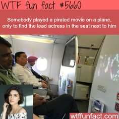 This man played a pirated movie on an airplane…- WTF fun fact