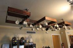 Hanging Mug Rack for Rhino Coffee House in Shreveport, LA