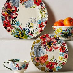 Flower Power: Floral Home Accessories - Sissinghurst Castle Dinnerware from Anthropologie from #InStyle