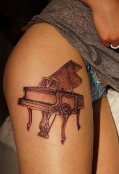 Chronic ink Tattoos, Toronto Tattoo -   Antique grand piano. 1st session, by Miss Lee.