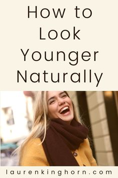 6 Tips on How to Look Younger Naturally | Lauren Kinghorn Ever wish you could take a sip from the fountain of youth? Then you'll love our 6 top tips on how to look younger naturally. And a chance to get Vitamium's Vitamin C Professional Facial Serum at half price. Get your coupon code inside this post. #howto #lookyoungernaturally #antiaging #antiageing #vitamium #sponsored