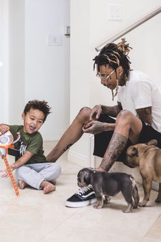 Wiz Khalifa with his son Bash