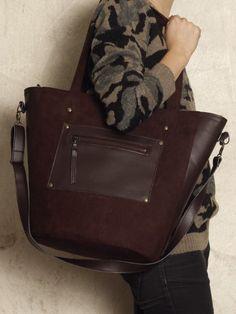 torby na ramię - damskie-Bucket Bag Brązowa