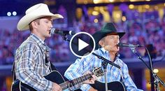 What's better than one Strait? Two! George Strait is used to teaming up with his son, Bubba, but mostly as a songwriter. Clad in plaid, cowboy...