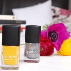 """exurbe cosmetics - """"build me up buttercup"""" and """"wrecking ball"""" #exurbecosmetics #nailpolish #nailvarnish"""